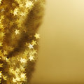 Golden star bokeh background Royalty Free Stock Photos