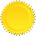 Golden Starburst Royalty Free Stock Photo
