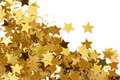 Golden stars confetti Royalty Free Stock Photo