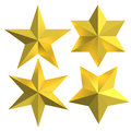 Golden stars isolated gold badges