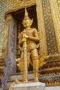stock image of  Golden statue of ancient guard in Wat Phra Keao, The Grand Palace, Bangkok, Thailand.