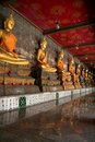 Golden Statue of Buddha Stock Images