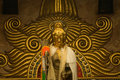 Golden statue  of Guan Yin Buddha 2. Stock Images