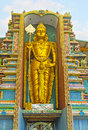 The golden statue in Hindu Temple