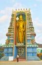 The golden statue of Murugan