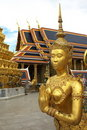 Golden Statue in Thai Palce Stock Photos