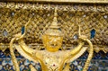 Golden staute of garuda close up Stock Photography