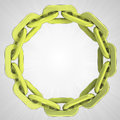 Golden strong chain circle in top view Royalty Free Stock Photo