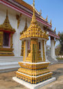 Golden stupa in a Buddhist Temple in Thailand Royalty Free Stock Photo