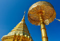 Golden stupa in Doi Suthep Temple, Thailand Royalty Free Stock Photo