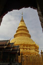 Golden stupa in lumpun,thailand Royalty Free Stock Photo