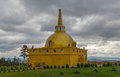 Golden stupa of peace at rinpoche bagsha datsan monastery in ulan ude russia devoted to preservation development distribution Stock Photos