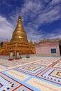 Golden Stupa @ Sagaing Hill Mandalay Stock Image