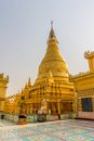 Golden stupa on sagaing hill in mandalay myanmar Royalty Free Stock Photography