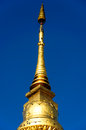 Golden stupa in wat nan thailand Royalty Free Stock Image
