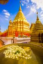 Golden stupa of Wat Phra That Doi Suthep temple in Chiang Mai, Thailand Royalty Free Stock Photo