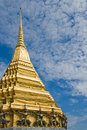 Golden stupa in Wat Phra Kaew, Bangkok, Thailand Royalty Free Stock Photo