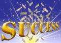 Golden success text. Stock Photos
