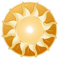 Golden Sun, Golden Disk Royalty Free Stock Photo