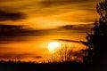 Golden sun in sky Royalty Free Stock Photo