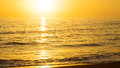Golden sunrise on peaceful sea Royalty Free Stock Photo
