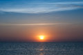 Golden sunset on beach Royalty Free Stock Photo