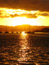 Golden sunset in Plymouth,Engalnd Stock Photos