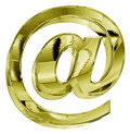 Golden @ symbol Royalty Free Stock Image