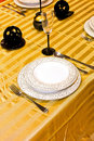 Golden table Stock Images