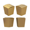 Golden taper square butterfly buckle biscuit box with clipping p Royalty Free Stock Photo