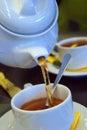 Golden tea Royalty Free Stock Photo