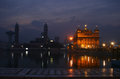 Golden temple at Amritsar in early winter morning Stock Image