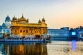 Golden temple in amritsar punjab morning view of with people Stock Images