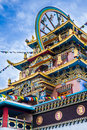 Golden temple buddhist monastery in kushalnagar south india Stock Images