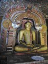 The golden temple of Dambulla is world heritage site and has a total of a total of 153 Buddha statues, three statues of Sri Lankan
