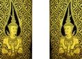Golden temple doors Royalty Free Stock Photo