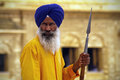 Golden Temple guard Royalty Free Stock Photo