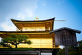 Golden temple kinkakuji the in kyoto japan Royalty Free Stock Image