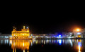 Golden temple at night Stock Photography