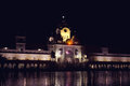 Golden temple at night amritsar india Royalty Free Stock Photo