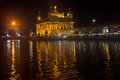 Golden temple at night view of amritsar punjab india Royalty Free Stock Photos