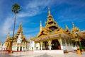Golden temple of Shwedagon Pagoda, Yangon, Myanmar Royalty Free Stock Photos