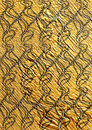 Golden textured seamless wallpaper original backdrop Stock Photo