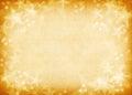 Golden Textured Star Background.