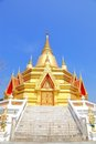 Golden thai pagoda Stock Image