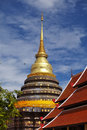 Golden thai pagoda in natural light Stock Photo