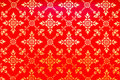 Golden Thai pattern on red Royalty Free Stock Photo