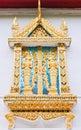 Golden Thai window style Stock Photography