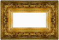 Golden thick frame Royalty Free Stock Photo