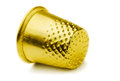 Golden thimble Royalty Free Stock Photos